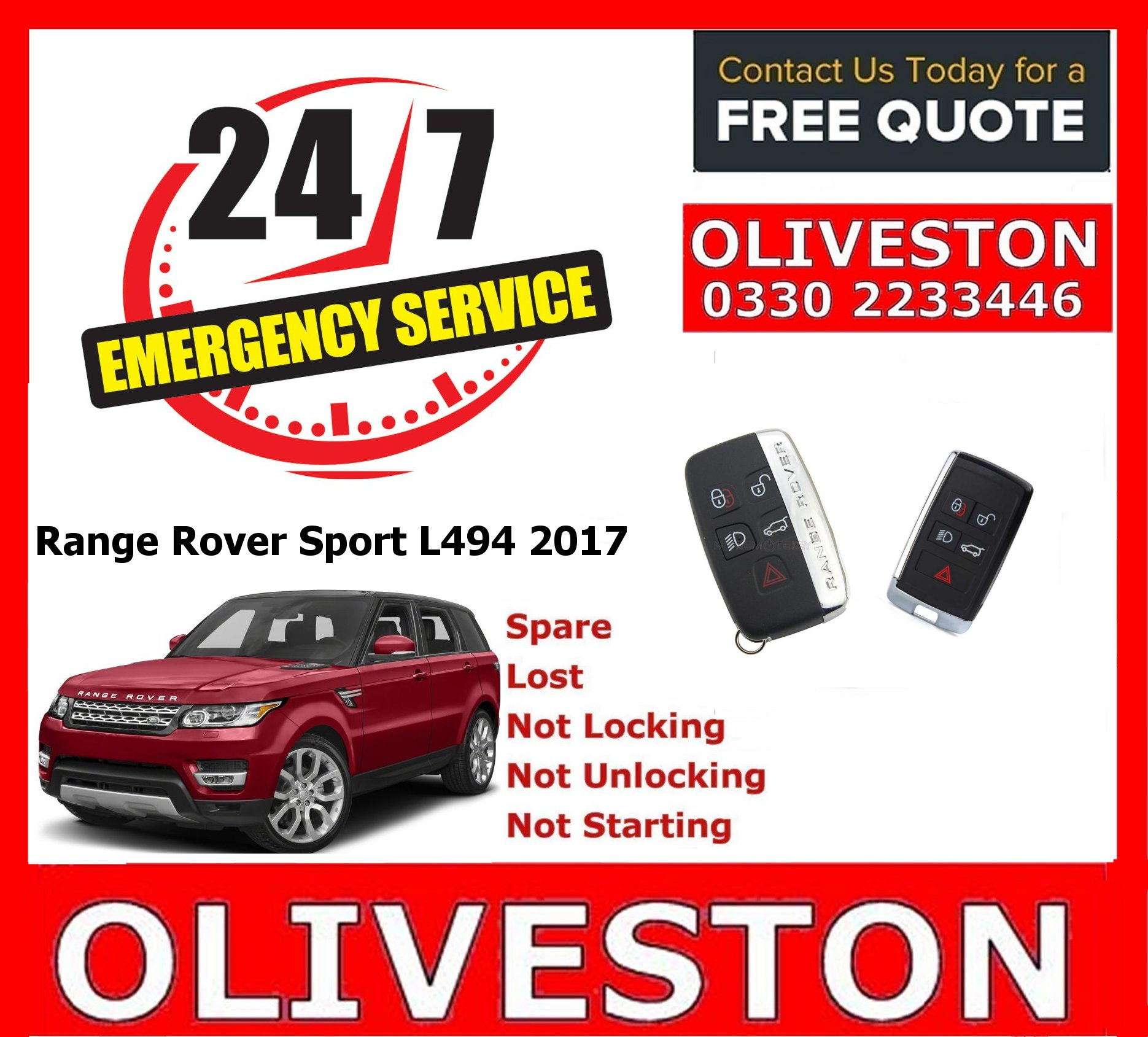 Range Rover Land Rover Jaguar Spare lost keys Arbroath Forfar Montrose Angus Scotland