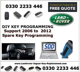 DIY Key Spare Key Programming Laptop Hire for Land Rover Range Rover 2006  to 2012